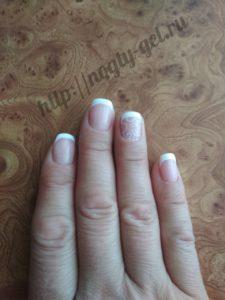 2.Френч на коротких ногтях