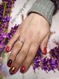 6.Омбре на ногтях гель лаком