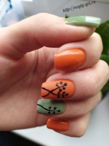 1.Узоры на ногтях гель лаком.