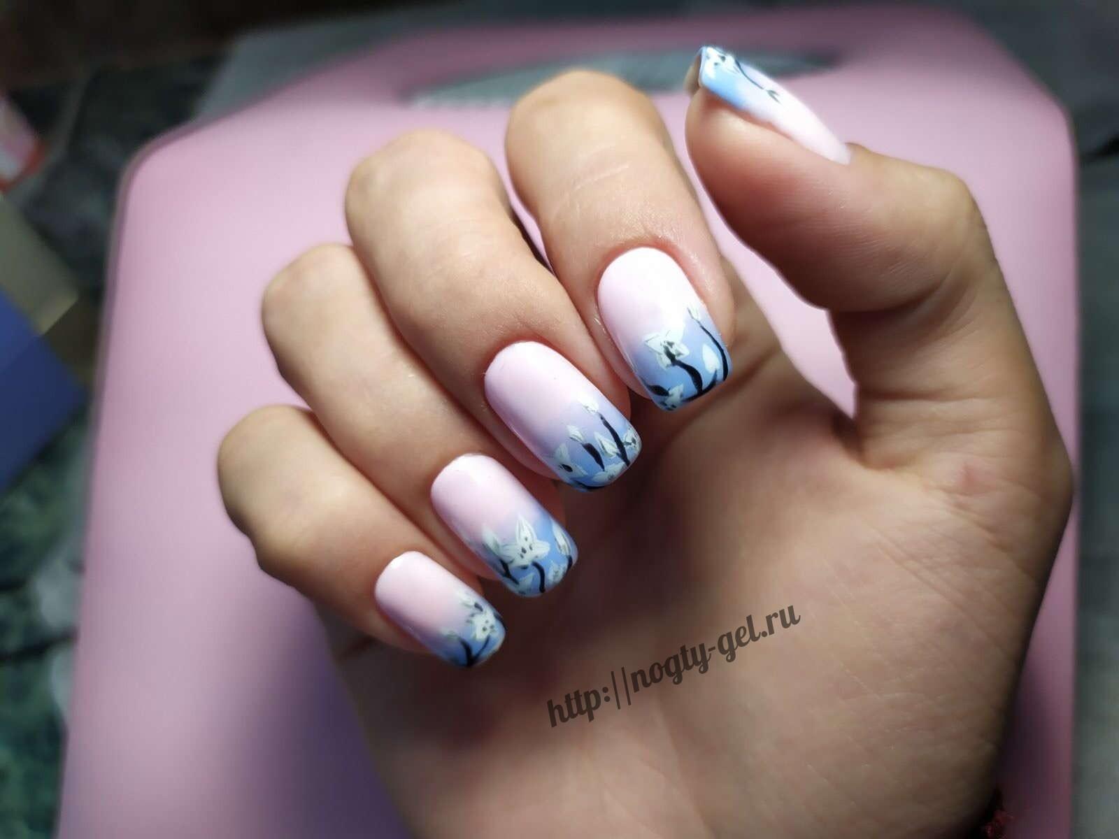1.Рисунки на ногтях гель лаком.