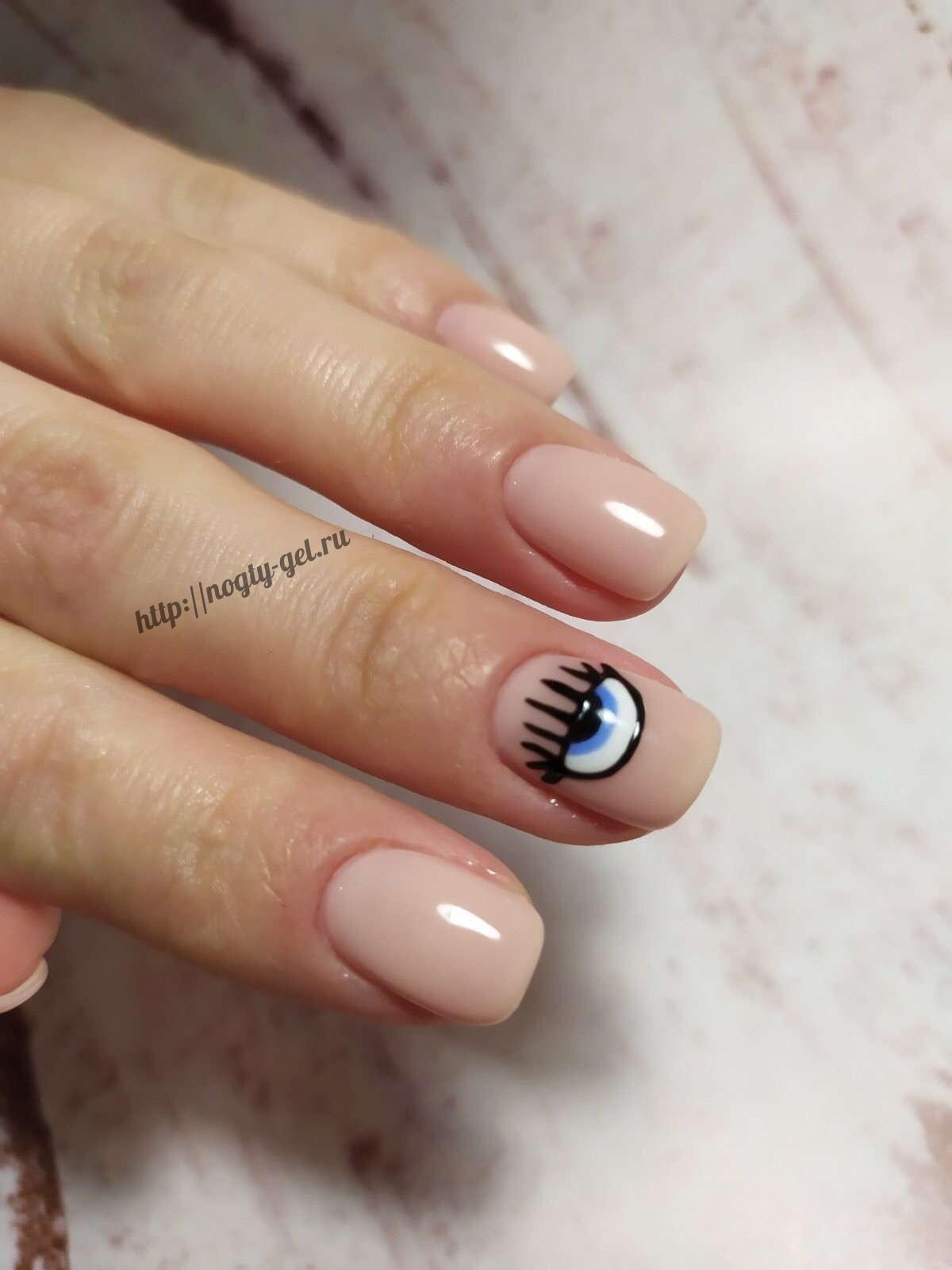 Простые рисунки на ногтях гель лаком.