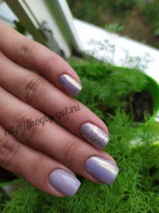 5.Гель ногти однотонные.