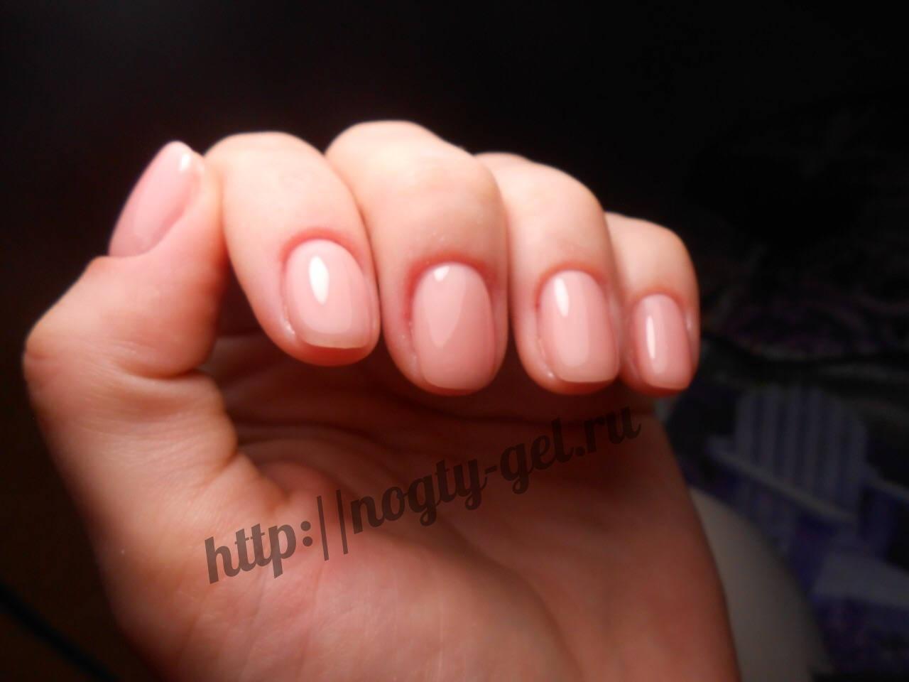 1Гель ногти однотонные.