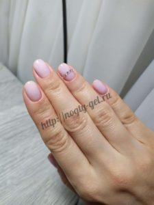 7.Гель ногти однотонные.