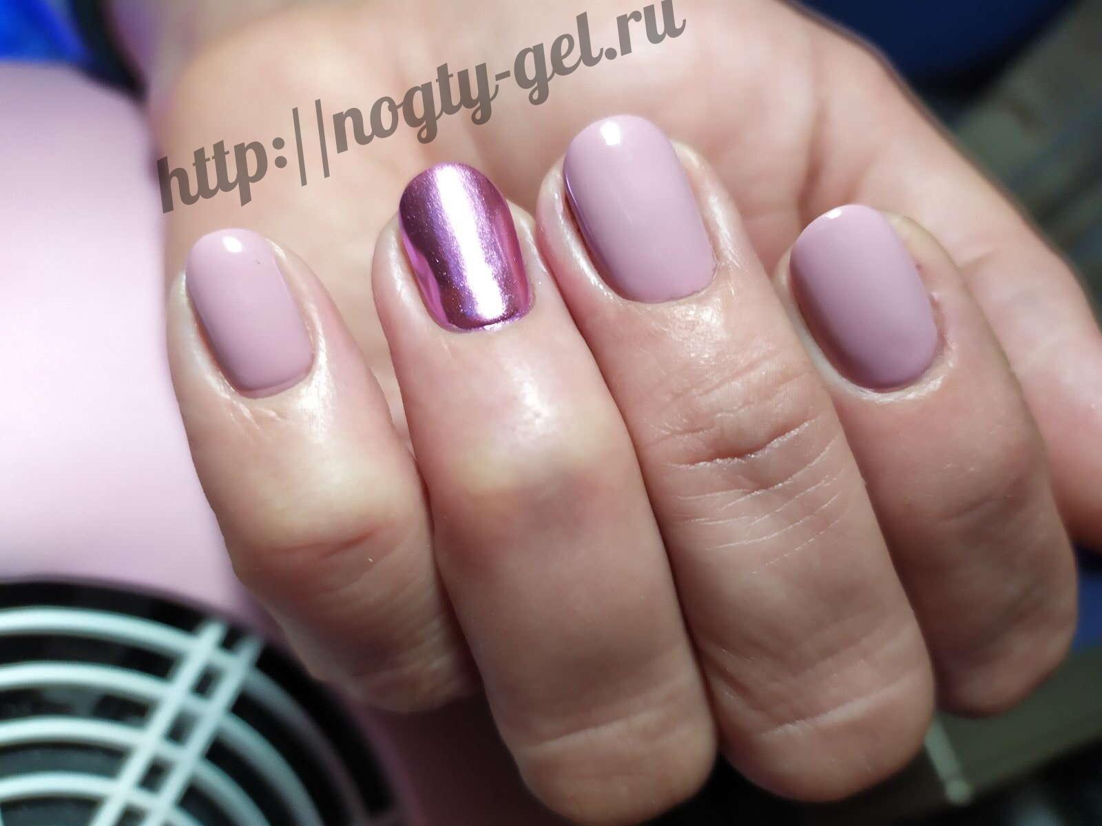 10.Гель ногти однотонные.