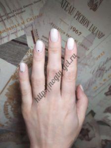 3.Гель ногти однотонные.