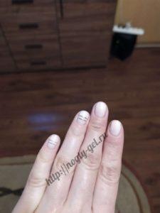 9.Гель ногти однотонные.