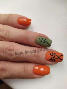 2.Рисунки гель лаком на ногтях.
