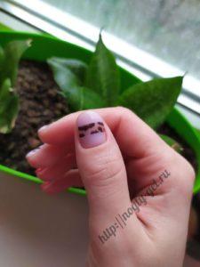 4.Ногти маникюр гель.