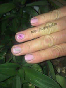 8.Рисунки гель лаком на ногтях.