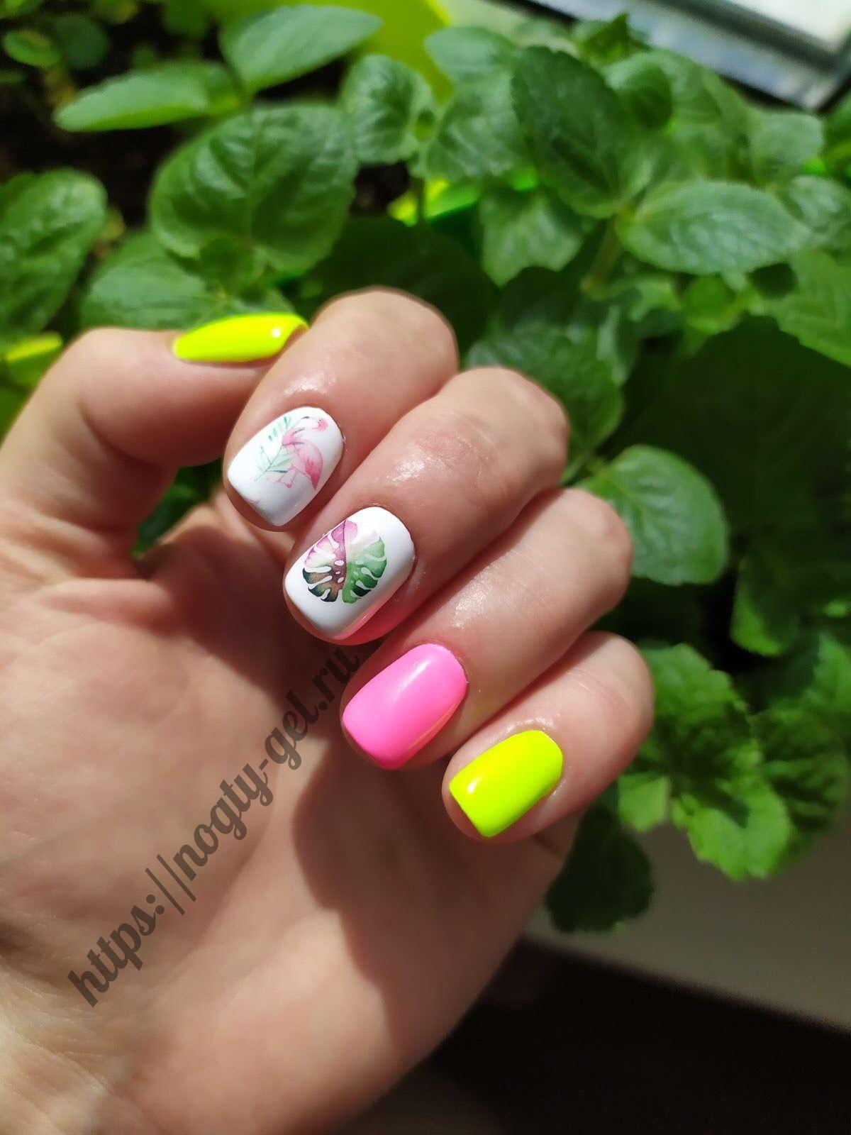 2.Красивые ногти гель лаком фото.
