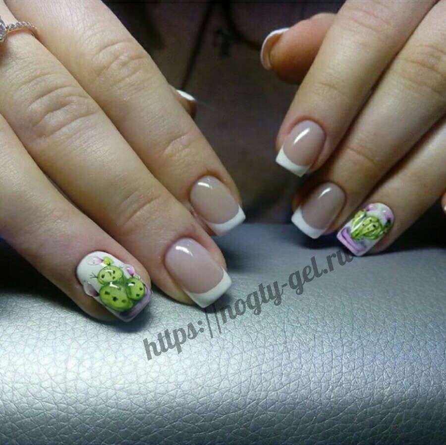 1.Акриловая лепка на ногтях фото.
