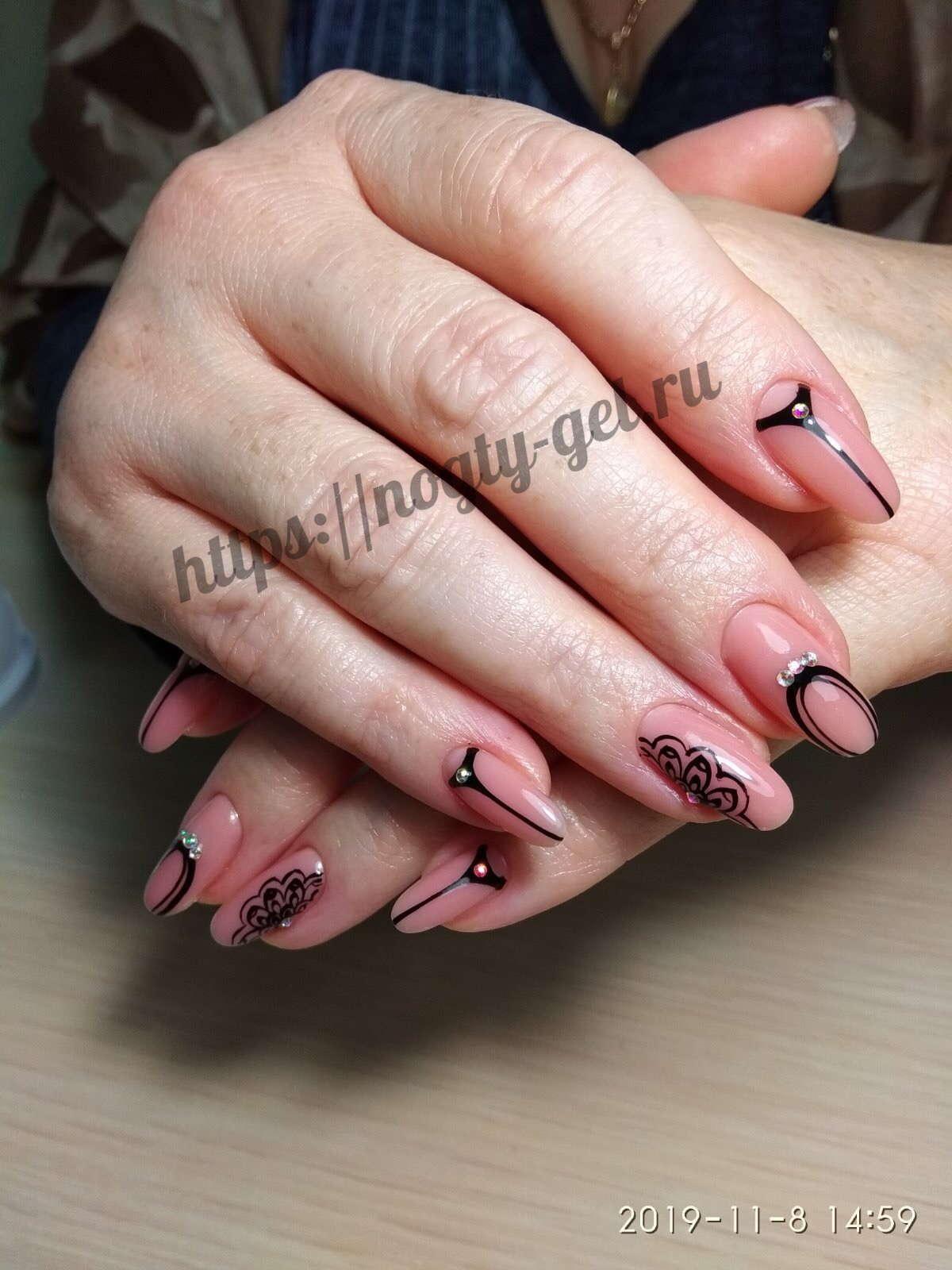 Лёгкий дизайн ногтей гель лаком