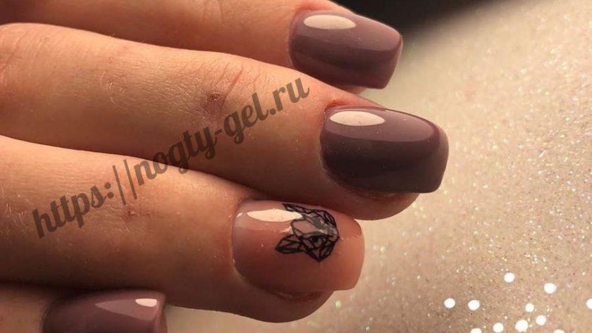 Короткие ногти гель.