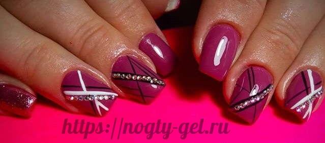 2.Ногти короткие гель