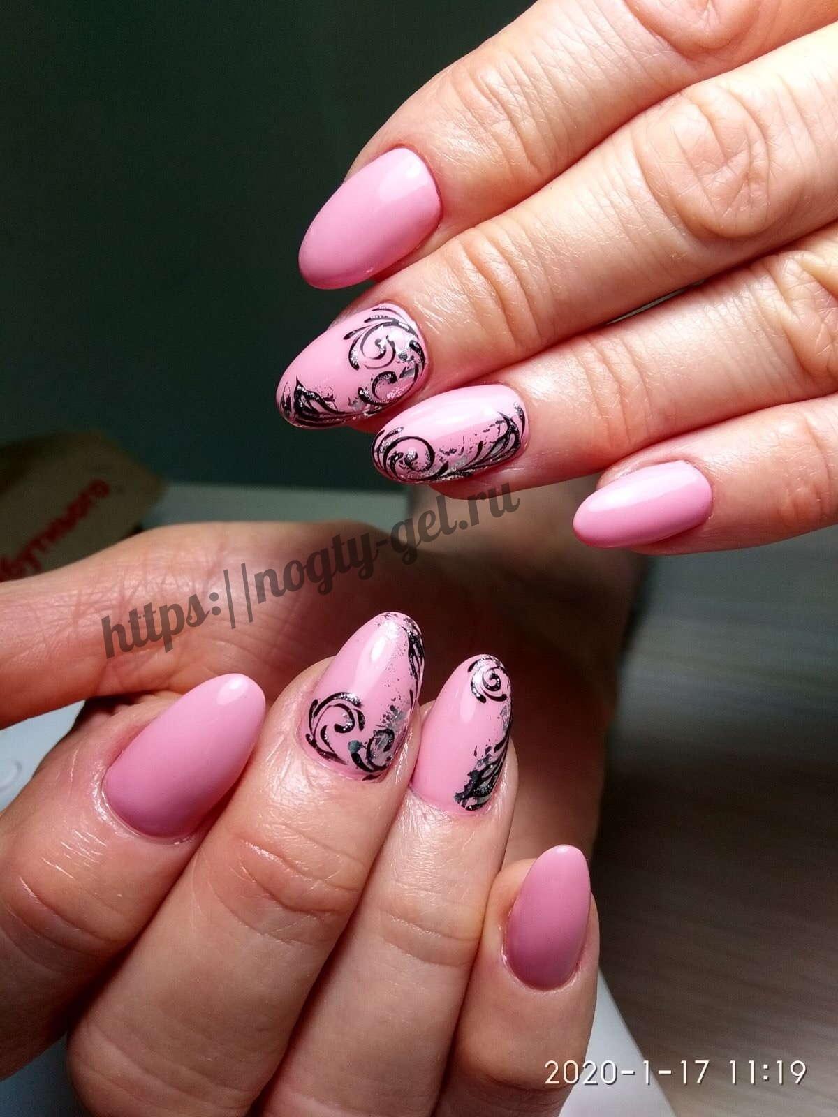 4.Ногти короткие гель