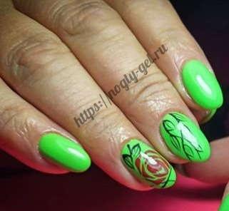 5.Ногти короткие гель
