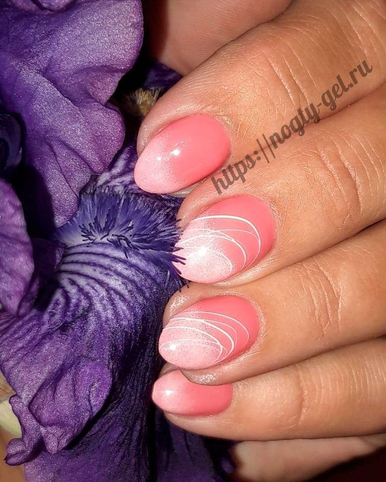 17.Дизайн ногтей розовый с серебром фото