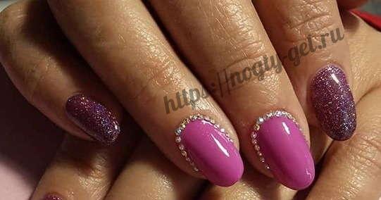 11.Дизайн ногтей розовый с серебром фото