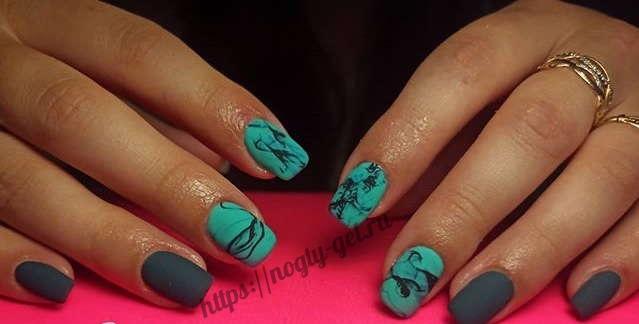 Как рисовать мрамор на ногтях гель лаком?